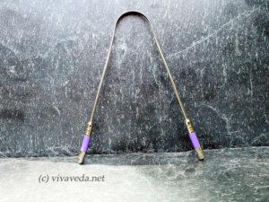 deluxe Zungenreiniger, chirurgischer Edelstahl violett