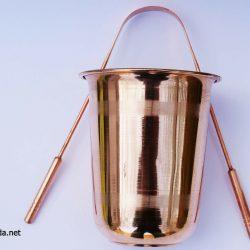 Kupferbecher und Zungenreiniger Ayurveda